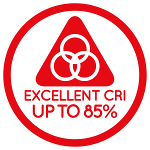 EXCELLENT CRI UP TO 80%